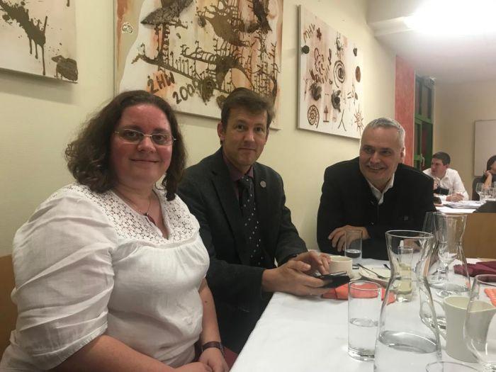 MMag. Barbara Pachner, Medienreferentin ÖVVÖ, DI Andreas Schramm, Präsident und Direktor Ing. Rudolf Reisenberger